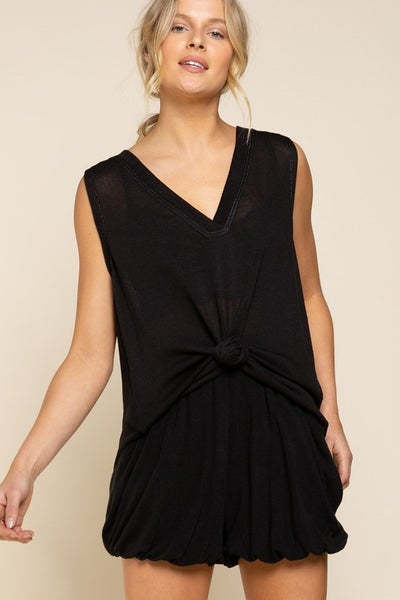 Pol - Low v neck sleeveless top