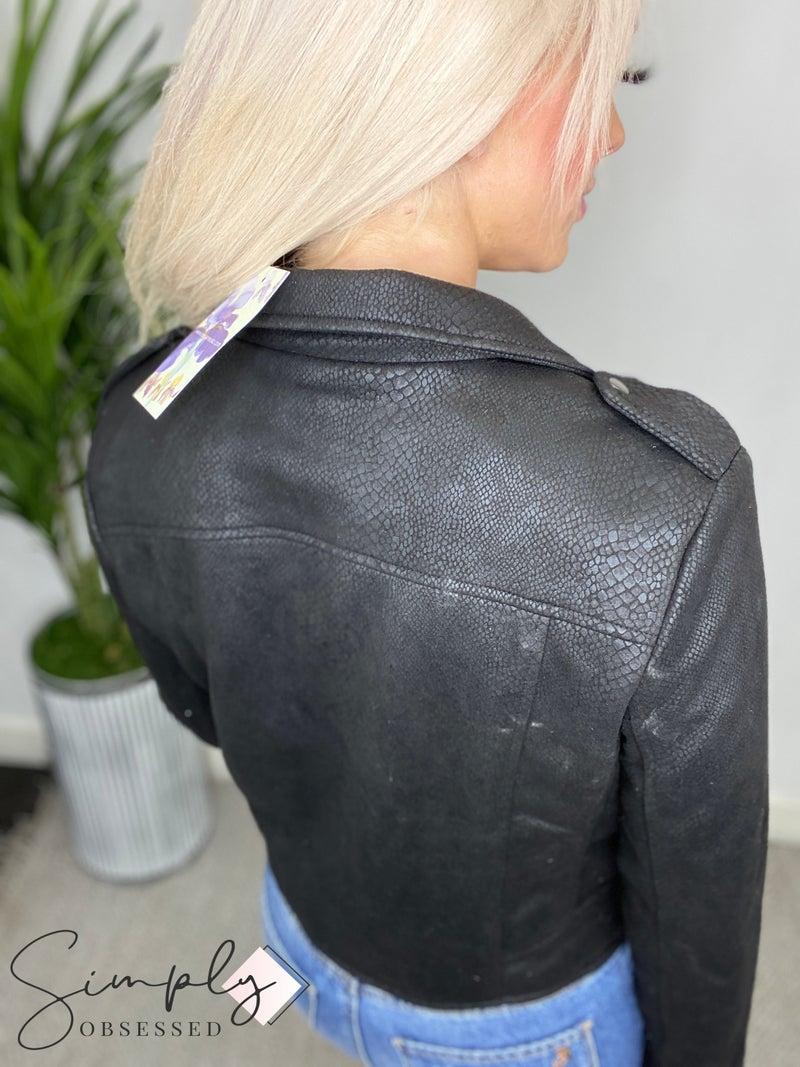 EE:Some - Snake print moto jacket