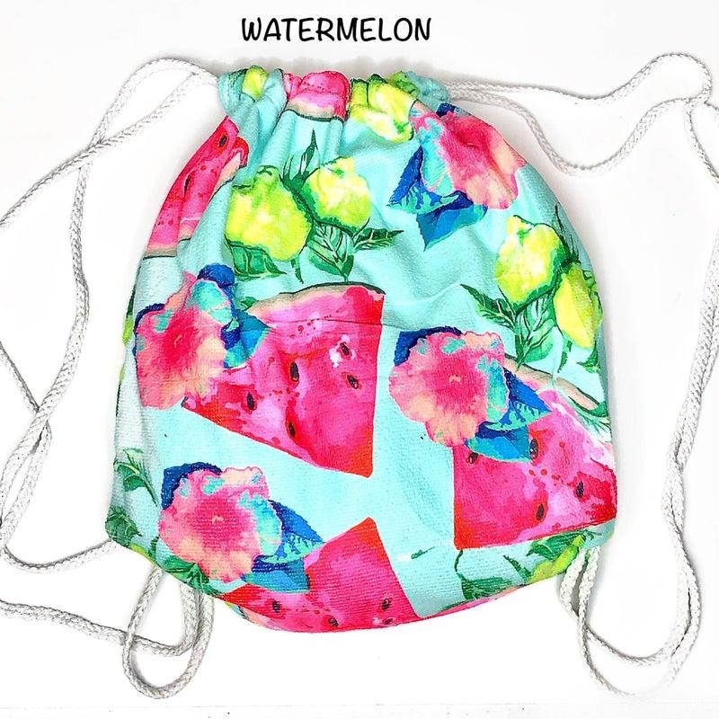 juliarose-2-in-1 backpack towel