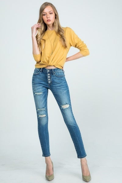 Special A - Mid rise ankle skinny jeans