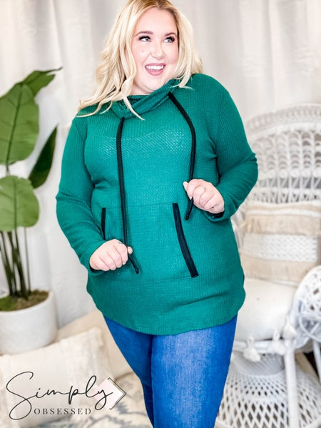 White Birch - Long Sleeve Solid Waffle Knit Sweater
