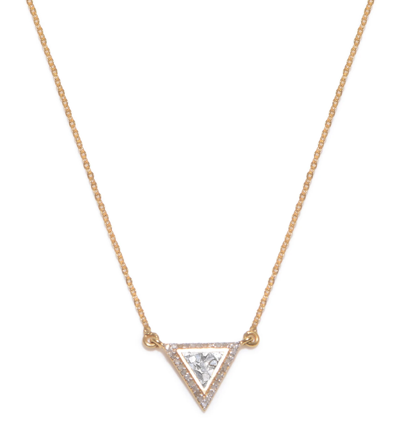 Gulati - Frieda Pendant Diamond Triangle Necklace