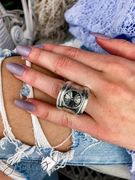 Vidda - Silver Luz Round Gem Ring