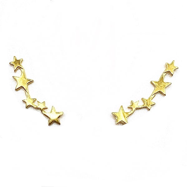 RMJ - Gold Star Ear Climber Earrings