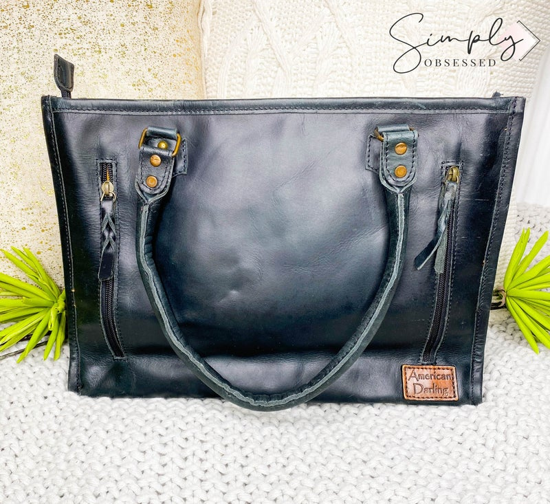 American Darling - Genuine leather carry conceal pocket cross body bag