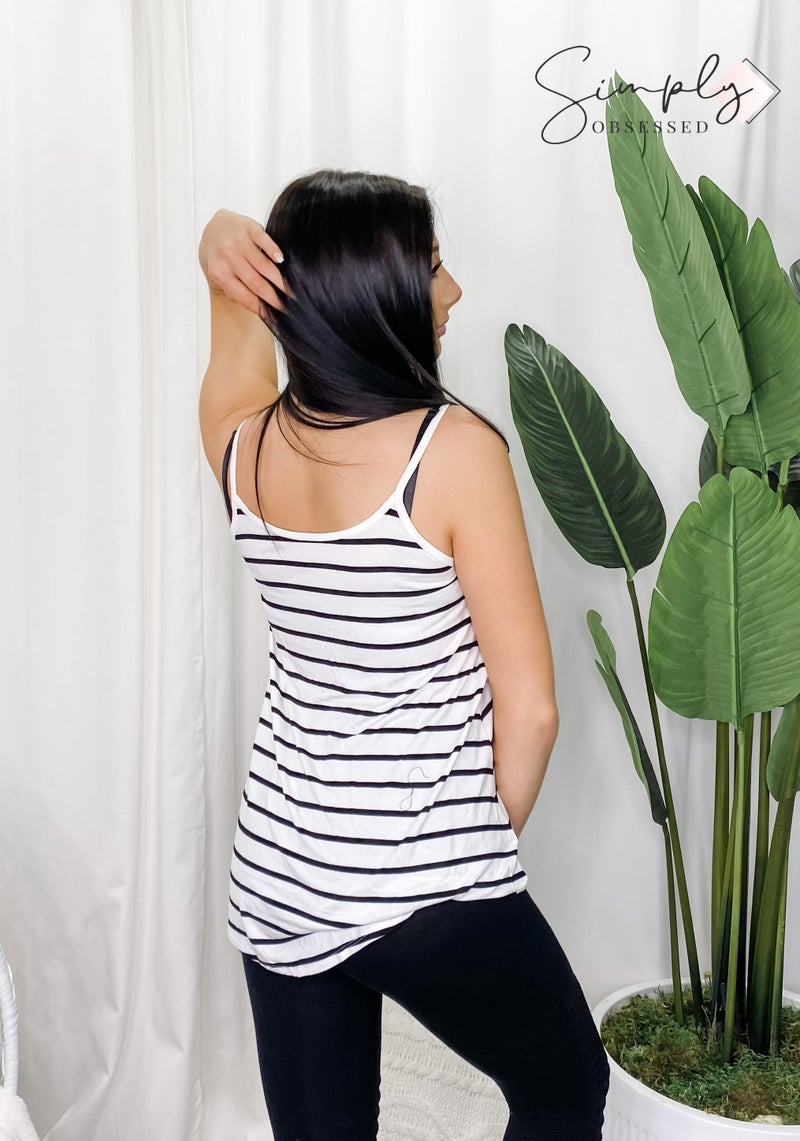 Front and back reversible spaghetti cami top