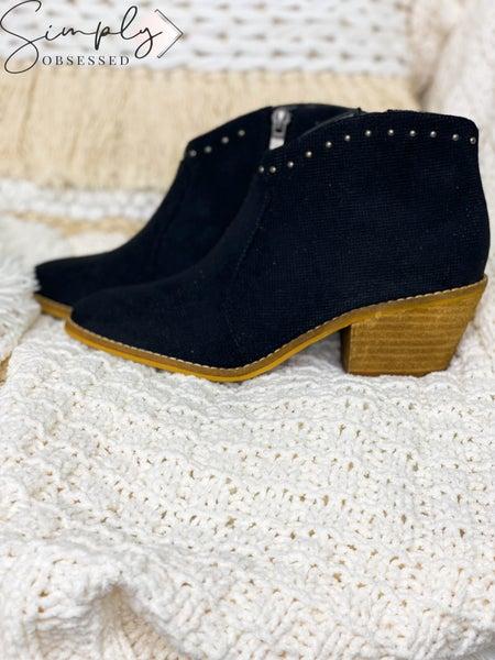 Corky's Footware - Zip up stud detail boots