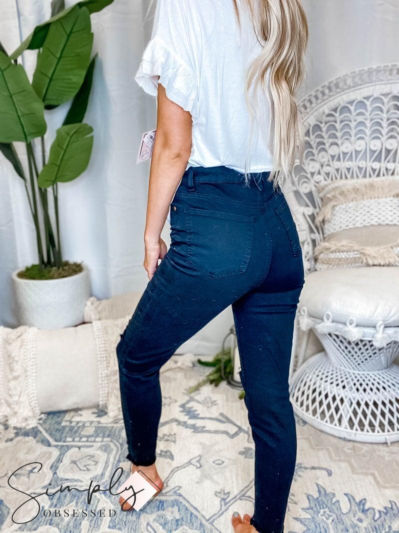 Easel - Hi waist distressed pants