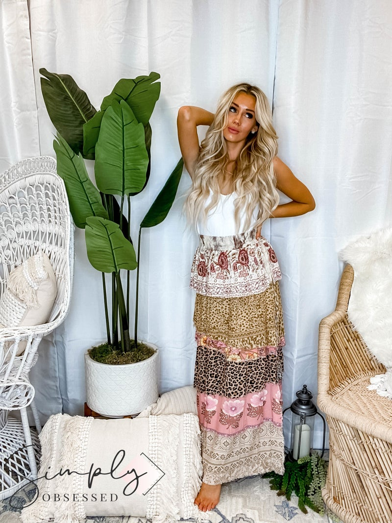 Jaded Gypsy Boutique - Natures Layers Ruffle Skirt