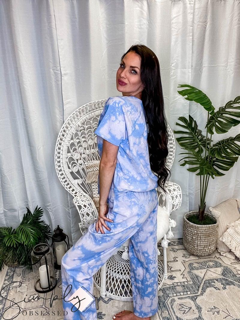 Kori - Tie Dye Long Sleeve Top & Wide Leg Pants Set