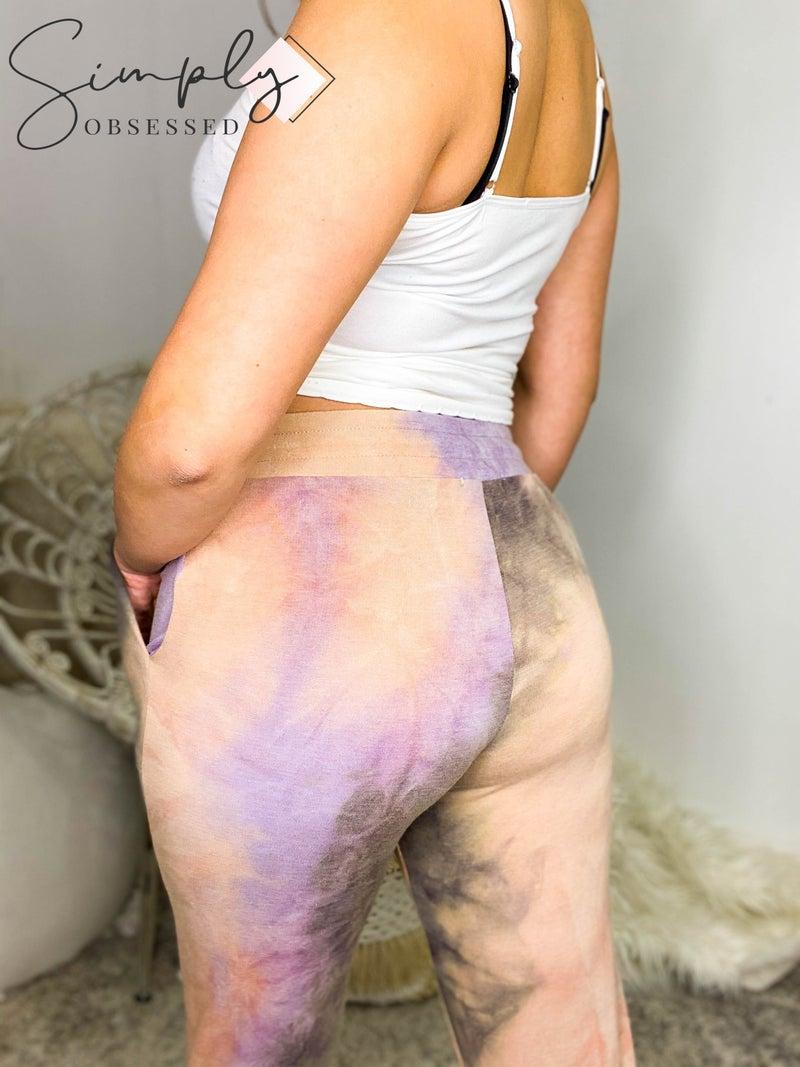 Gilli - Tie dye drawstring joggers (all sizes)