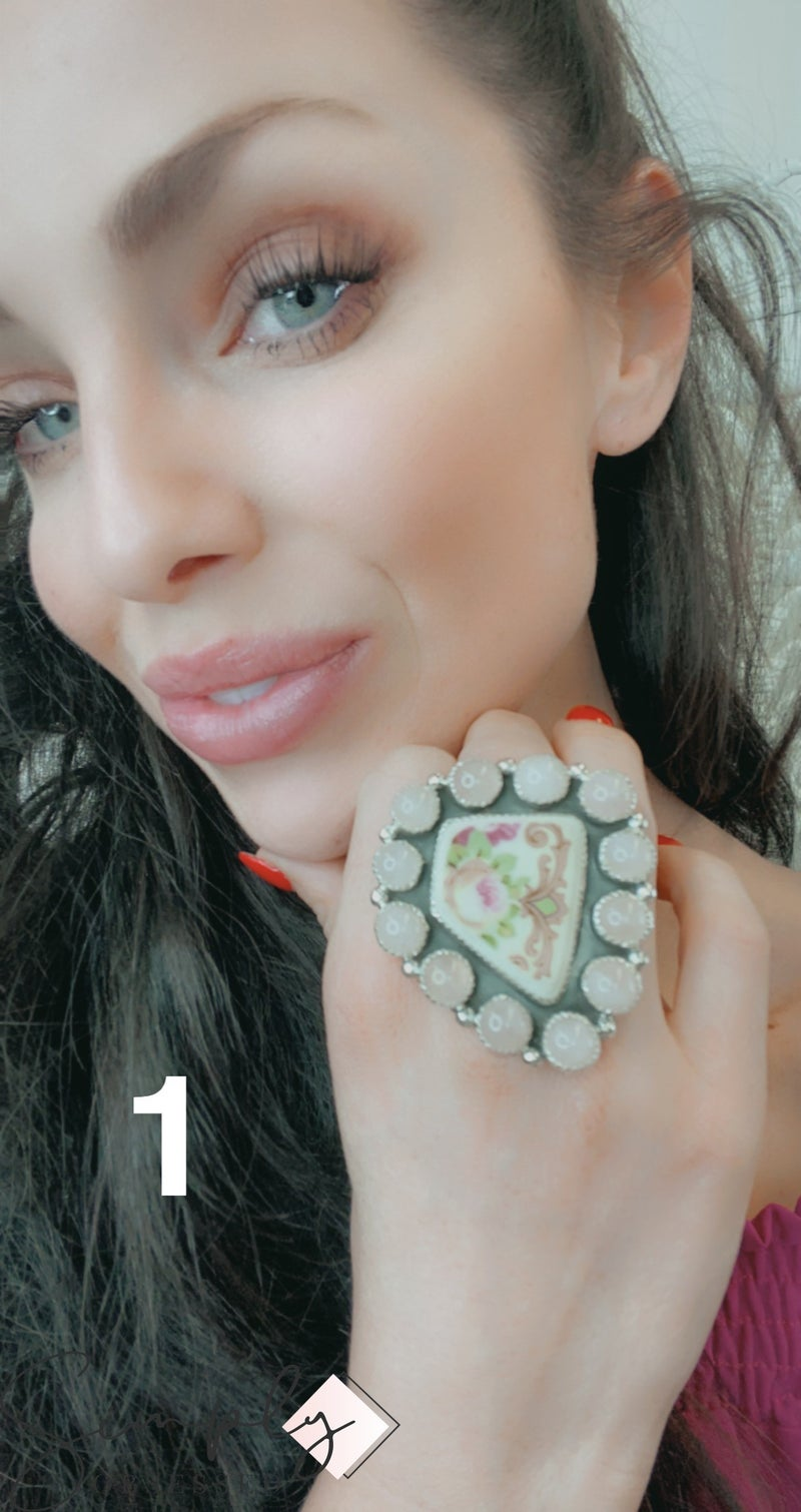 M&S - RQ + Porcelain China Ring