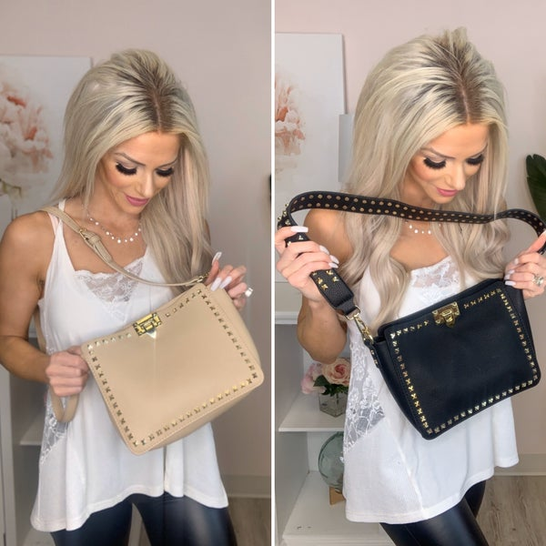 A Touch of Style - Studded purse w/ wallet