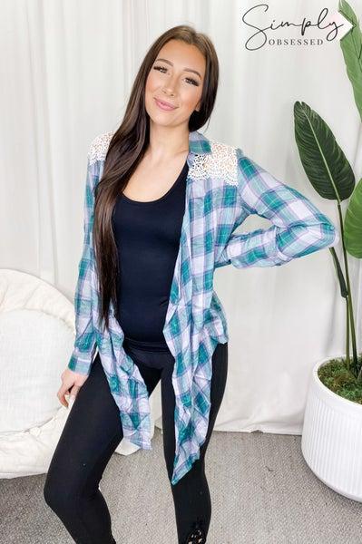Kori - Meadow vintage plaid jacket