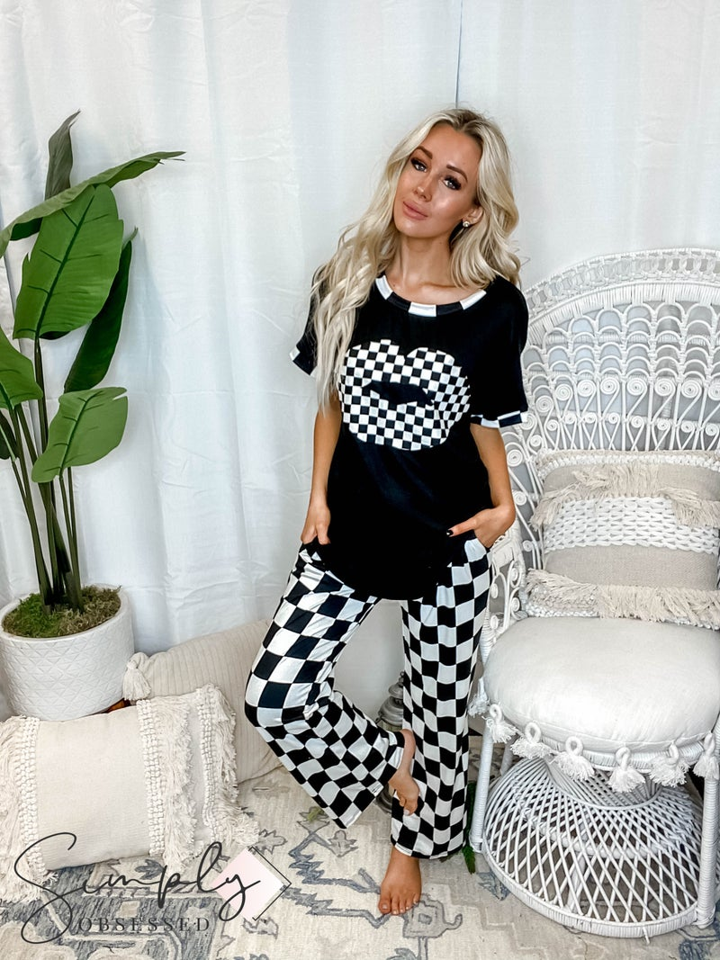 Blumin - Two piece pj set with lip patch on top(All Sizes)