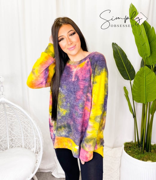 HONEY ME-FULL SLEEVE ROUND NECK TOP WITH MULTI PATTERN