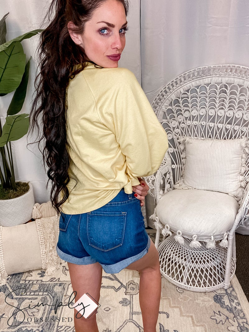 Judy Blue - Cuffed High Waisted Shorts