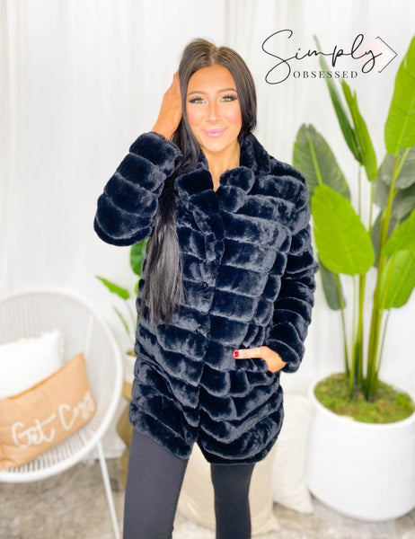 Rousseau - Faux fur mink cut sherpa loose fit jacket