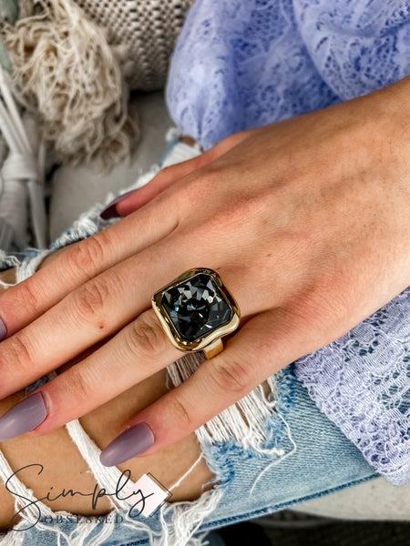 Vidda - Gold Ava Gem Ring
