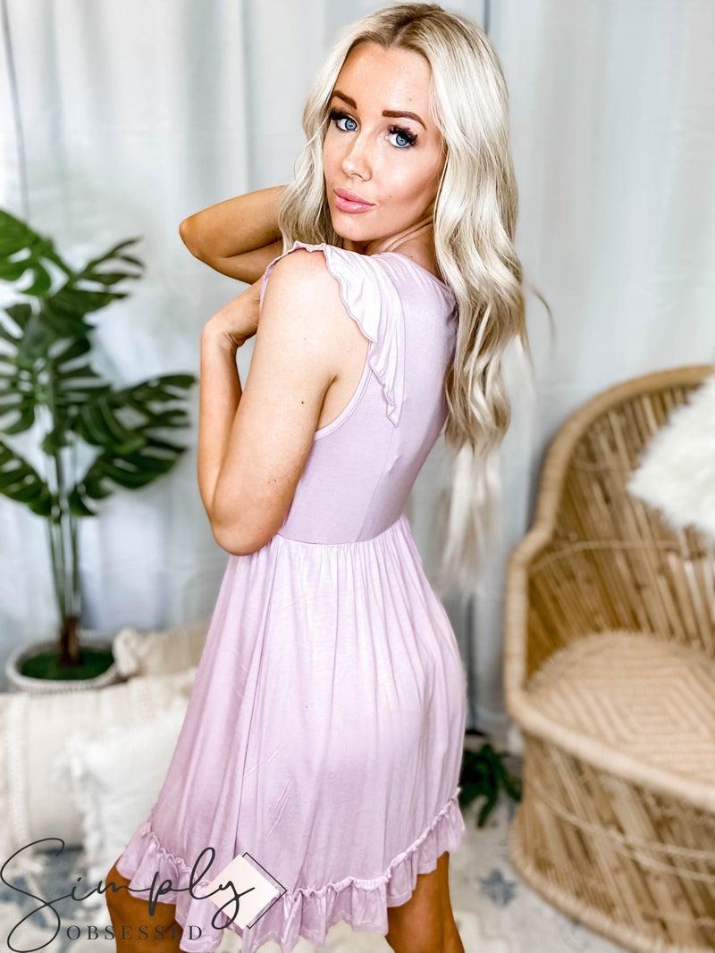 Vanilla Bay - Sleeveless Knit Dress w/ Ruffle Detail