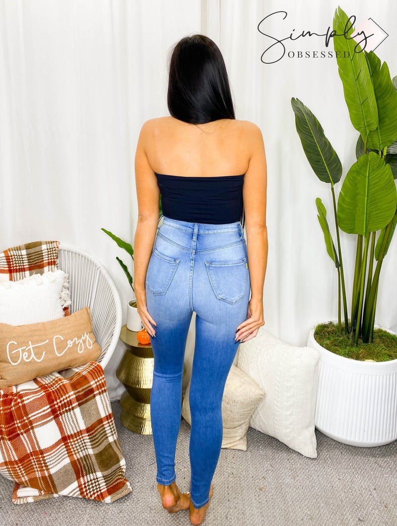 Vibrant - Distressed skinny jeans