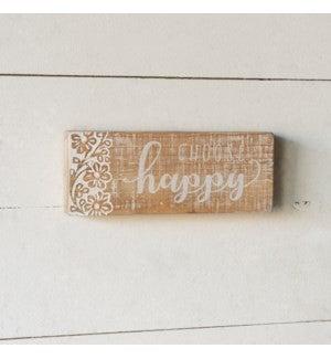 VIP ATL - Carved Embellishments Printed Choose Happy