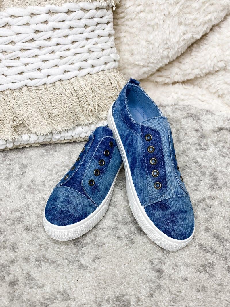 Bamboo - Denim slip on sneakers