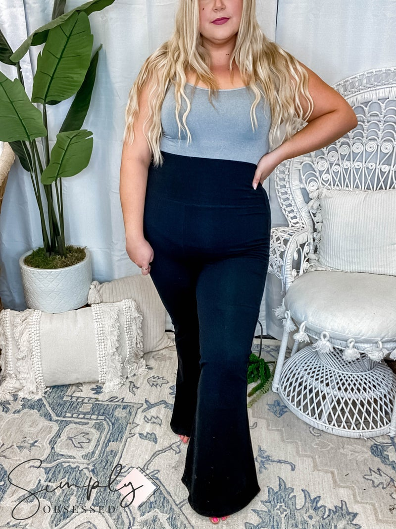Fold over flare yoga pants(All Sizes)