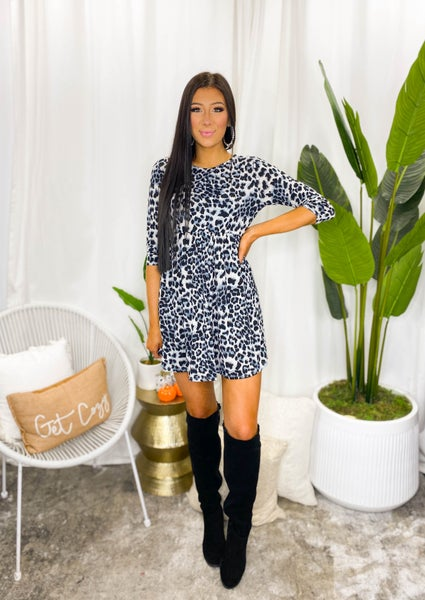 Sew In Love - 3/4 Leopard Tunic Dress