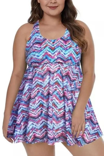 Multi color swim dress