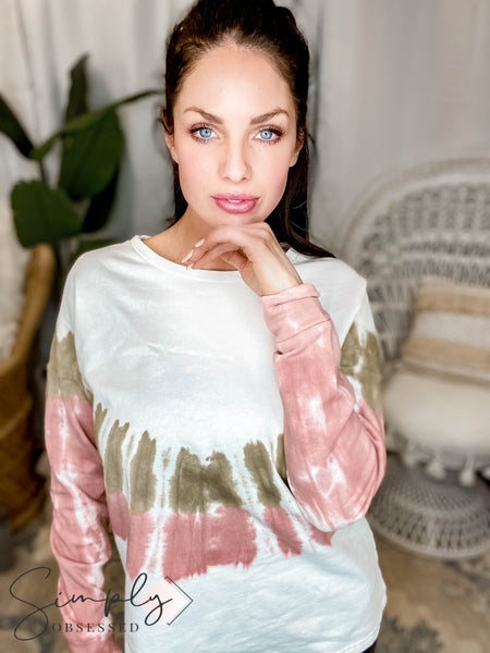 Blue B - French Terry Tie Dye Pullover Knit Top