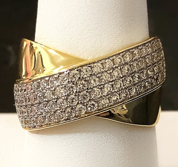 NYJ - Thick Criss Cross Ring