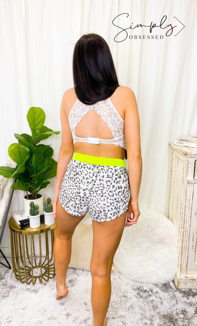 7th Ray - Animal print loungewear shorts