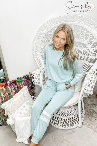White Birch - Solid knit lounge pants