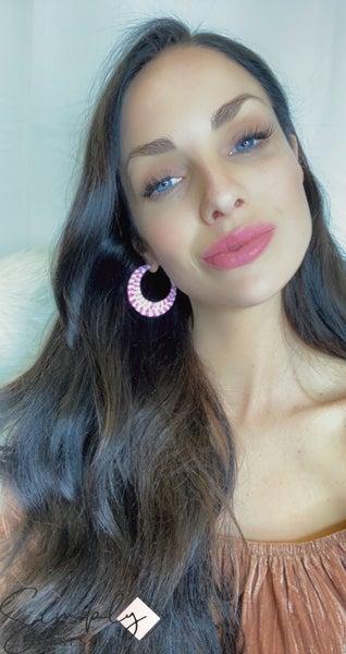 Weaved Crescent Moon Earrings