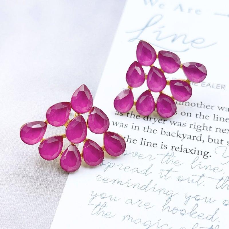 Treasure Jewels - Uvas Pink Earrings