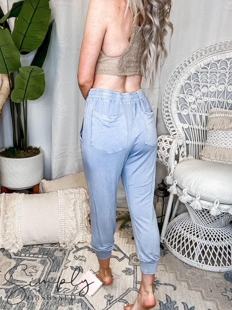 White Birch - Enzyme Washed Jogger Pants(All Sizes)