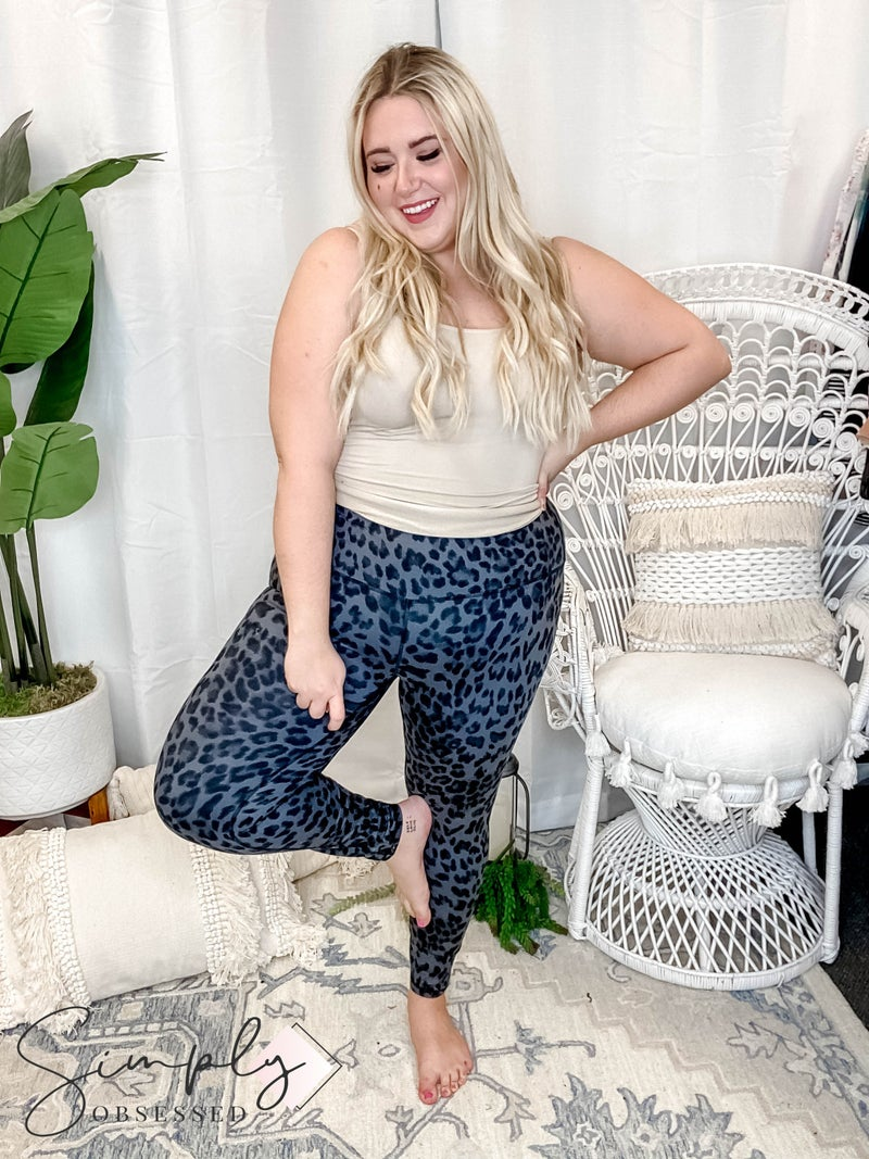 Rae Mode - Animal print yoga pants(plus)