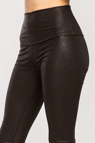 BIANCO-SNAKE SKIN HIGH WAIST LEGGINGS