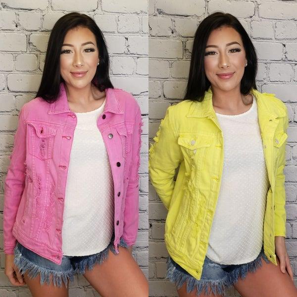 American Bazi - Distressed denim jacket