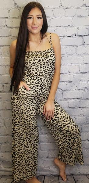 Gilli - Sleeveless leopard print jumpsuit