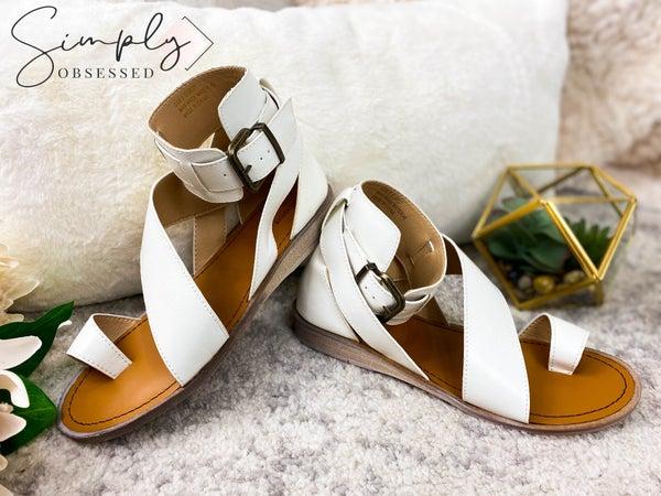 RIDER GIRL-Air Ride Ring Toe Flat Sandals