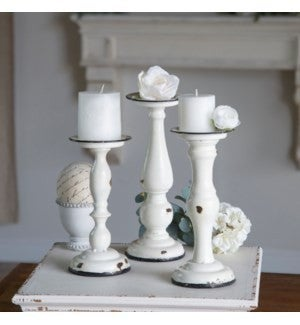 VIP ATL - Distressed Finish Candle Holder