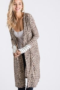 7TH RAY-ANIMAL PRINT MAXI CARDIGAN
