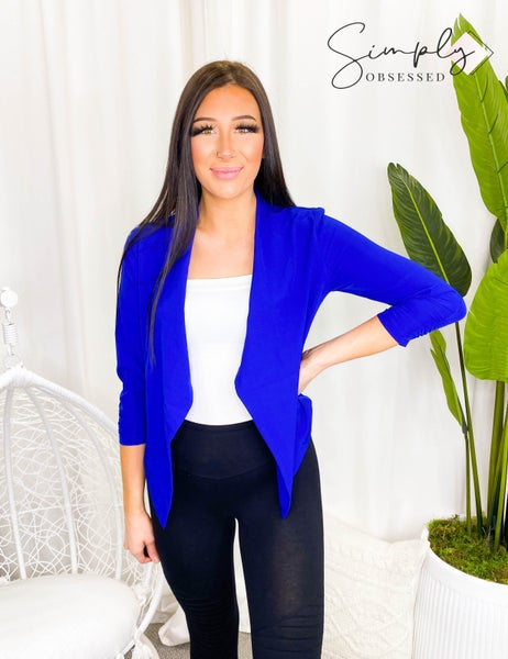 1Style - Lightweight blazer with fitted look