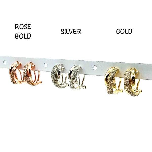 Horseshoe Pave Earrings