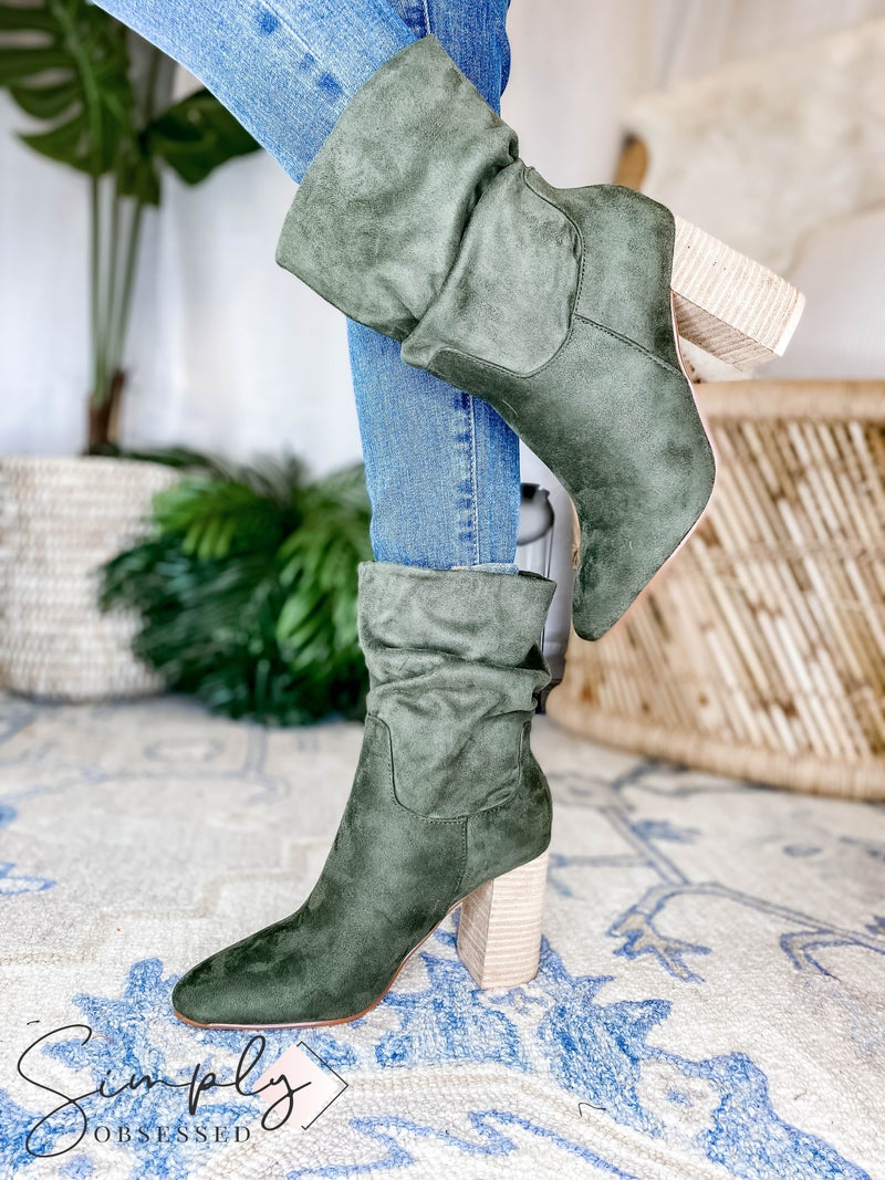 Ccocci - Suede Boot w/ Heel