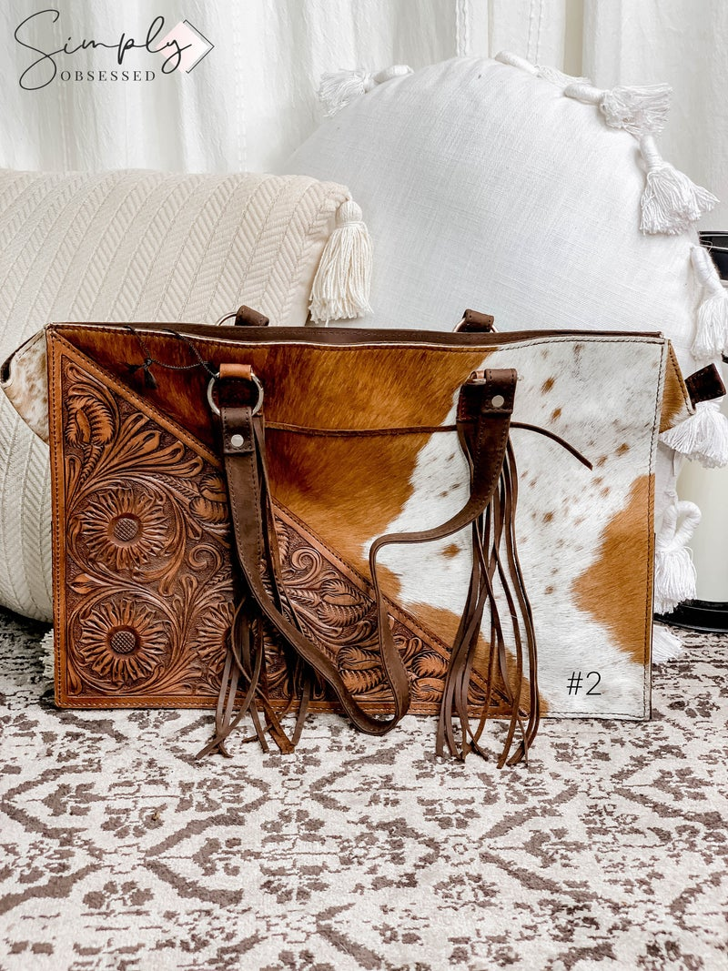 American Darling - Hand crafted leather work tassel detail bag