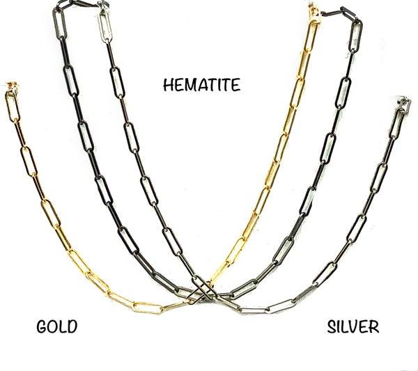 OMG - Matte Paper Clip Necklace