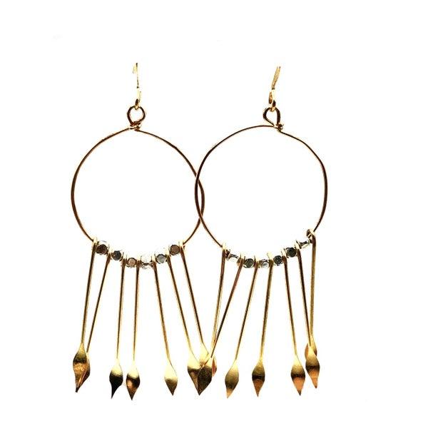 Gold Hoop Detail Earrings